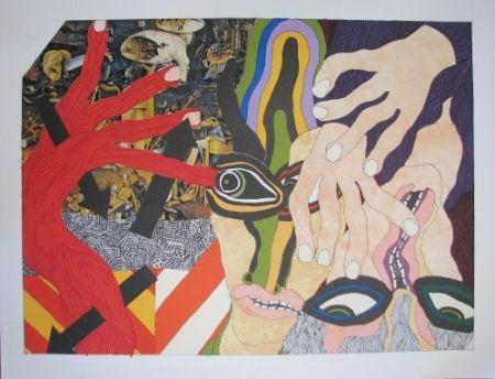 Litografia Tola - Lithograph-Collage