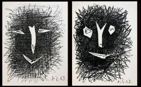 Litografia Picasso -  lithograph IV TWO PIECES