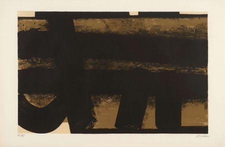 Litografia Soulages - Lithographie 35 – 1974