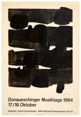 Litografia Soulages - Lithographie n°12, 1964. Signée.