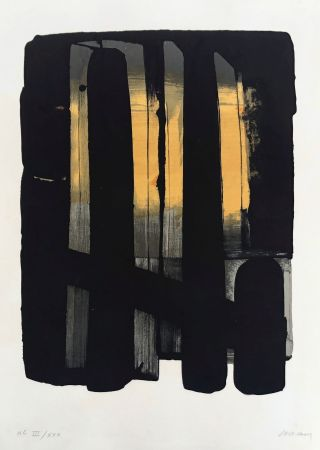 Litografia Soulages - Lithographie n°38