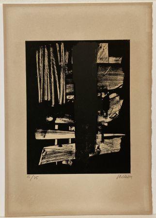 Litografia Soulages - Lithographie n° 9, 1959. Signée et numérotée.