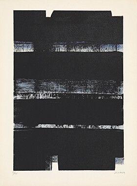 Litografia Soulages - Lithographie No. 32a