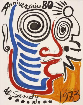 Litografia Calder - Lithographie sur vélin d'Arches. Signée