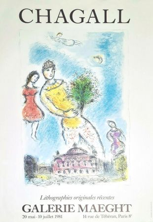Manifesti Chagall - '' Lithographies Originales Récentes ''
