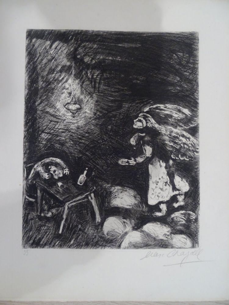 Acquaforte Chagall - L'Ivrogne et sa Femme