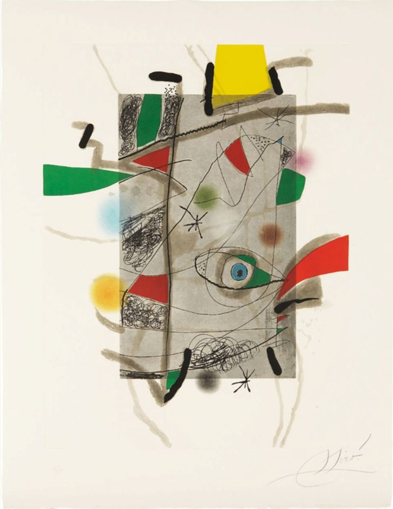 Acquaforte E Acquatinta Miró - Llibre dels sis Sentis, III