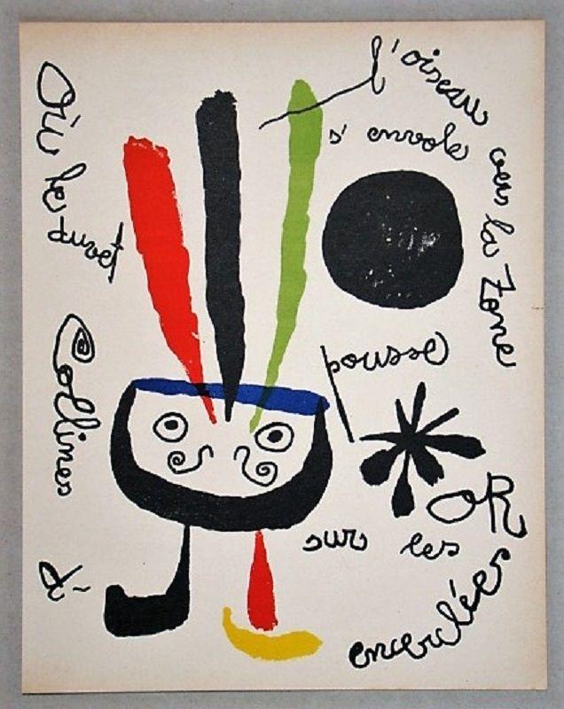 Litografia Miró - L'oiseau