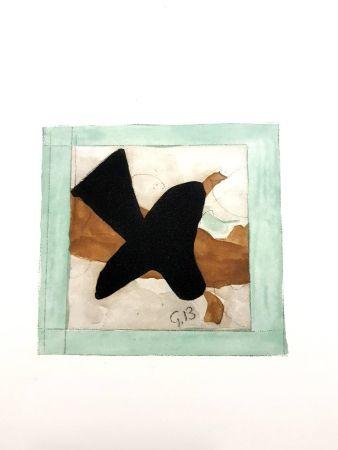 Litografia Braque - L'oiseau