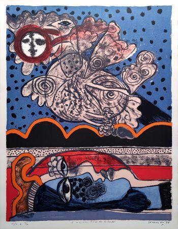 Litografia Corneille - L'oiseau îvre de liberté