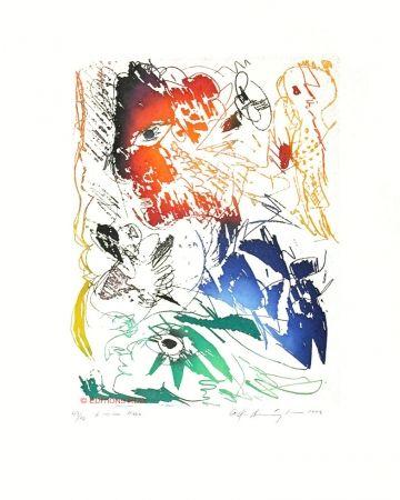 Acquatinta Pedersen - L'oiseau bleu