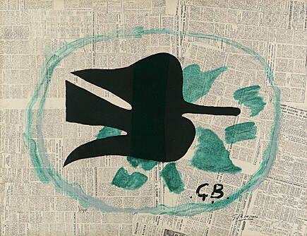 Litografia Braque - L'oiseau dans le feuillage