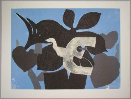 Litografia Braque - L'oiseau dans le paulownia