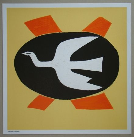 Litografia Braque - L'oiseau de feu, 1958