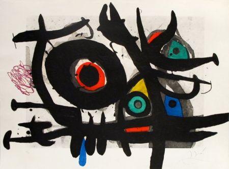 Incisione Miró - L'oiseau destructeur