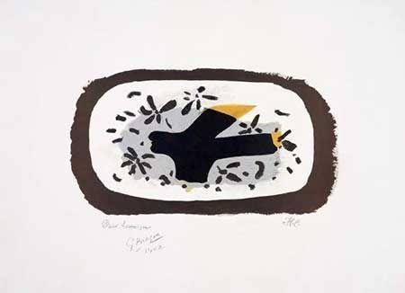 Litografia Braque - L'oiseau D'octobre