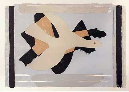 Litografia Braque - L'oiseau Est Son Nombre