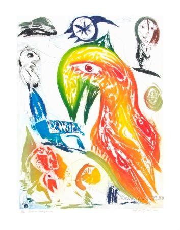 Acquaforte E Acquatinta Pedersen - L'Oiseau et l'étoile filante