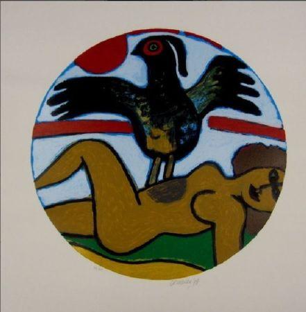 Litografia Corneille - L'oiseau Present