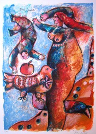 Litografia Tobiasse - L'Oiseau Prophete