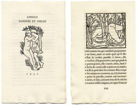 Libro Illustrato Maillol - Longus : LES PASTORALES DE LONGUS OU DAPHNIS ET CHLOÉ. Bois originaux d'Aristide Maillol (Gonin, 1937)