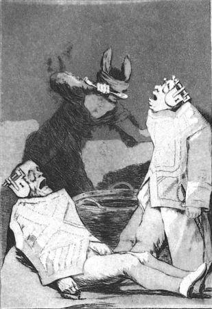 Acquaforte E Acquatinta Goya - Los chinchillas