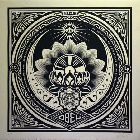 Serigrafia Fairey - Lotus Album, Large Format