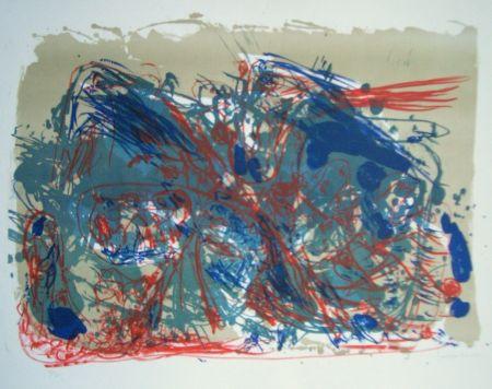 Litografia Jorn - L'oubli