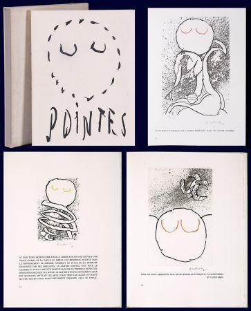 Libro Illustrato Alechinsky - Louis Scutenaire et Pierre ALechinsky : POINTES (17 gravures monogrammées) 1972.