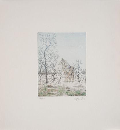 Acquaforte Hauck - Loup - Wolf