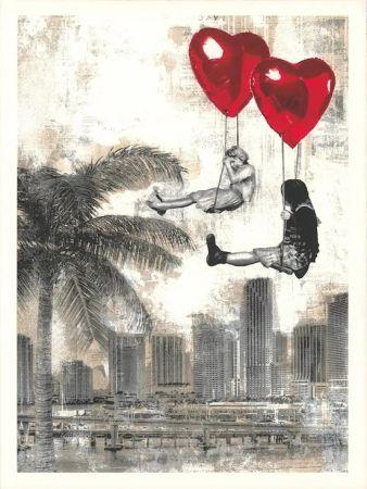 Serigrafia Mr Brainwash - Love is in the Air - Miami