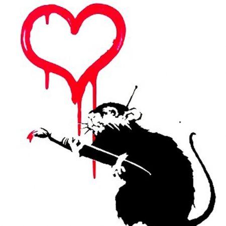 Serigrafia Banksy - Love Rat