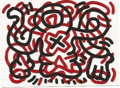 Litografia Haring - Ludo - 3
