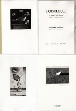 Libro Illustrato Assadour - Luigi Mormino : L'OISELEUSE (L'UCCELLATRICE). Gravures d'Assadour, frontispice d'Avati