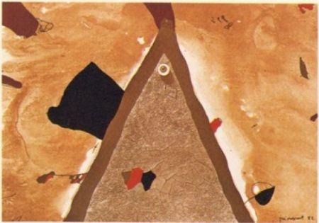 Litografia Guinovart - L'ull 1982