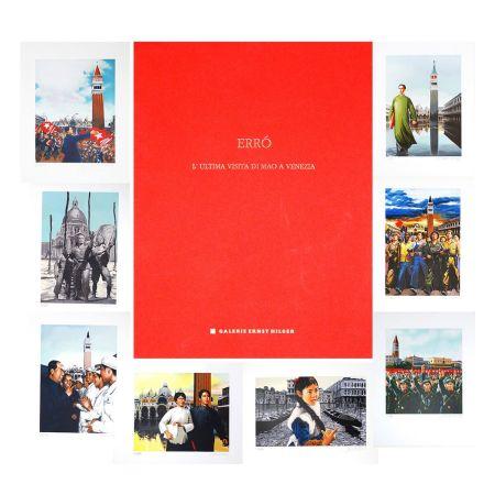 Litografia Erro - L'ultima visita di  Mao a Venezia - complete portfolio