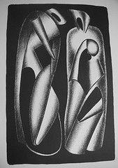 Litografia Archipenko - Luminositè des formes (Les formes vivantes)