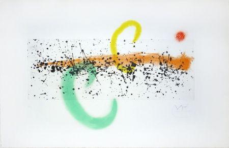 Incisione Miró - Lune et vent
