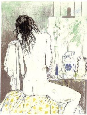 Litografia Jansem - Lydia de dos dans l'atelier