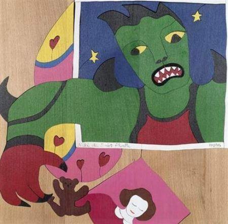 Serigrafia De Saint Phalle -  Méchant-Méchant , puzzle en bois