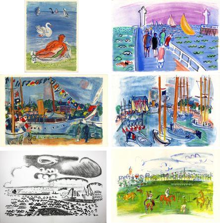 Libro Illustrato Dufy - M. de Saint-Pierre : LES CÔTES NORMANDES. Lithographies de Raoul Dufy (1961)