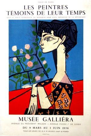 Manifesti Picasso -  M  Jacqueline  Exposition Les Peintres  Témoins De Leur Temps  Musée Galiera