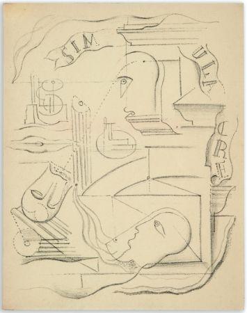 Libro Illustrato Masson - M. Leiris & A. Masson : SIMULACRE. Poèmes et lithographies (1925)