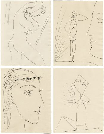 Libro Illustrato Picasso - M. Toesca : SIX CONTES FANTASQUES. 6 gravures originales (1953)