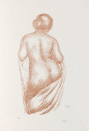 Litografia Maillol - Maîtres et petits maîtres d'aujourd'hui.  Aristide Maillol, Sculpteur et Lithographe.