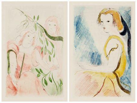 Libro Illustrato Laurencin - Madame de Lafayette : LA PRINCESSE DE CLÈVES (1947)