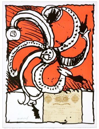 Litografia Alechinsky - Madame de Parades