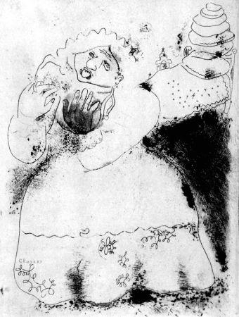 Acquaforte Chagall - Madame Korobotchka