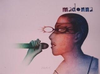 Litografia Wunderlich - Madonna