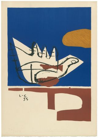 Litografia Le Corbusier - Main ouverte (hand-signed & numbered)